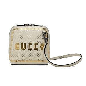 Gucci Guccy Logo Moon & Stars Leather Cross Body